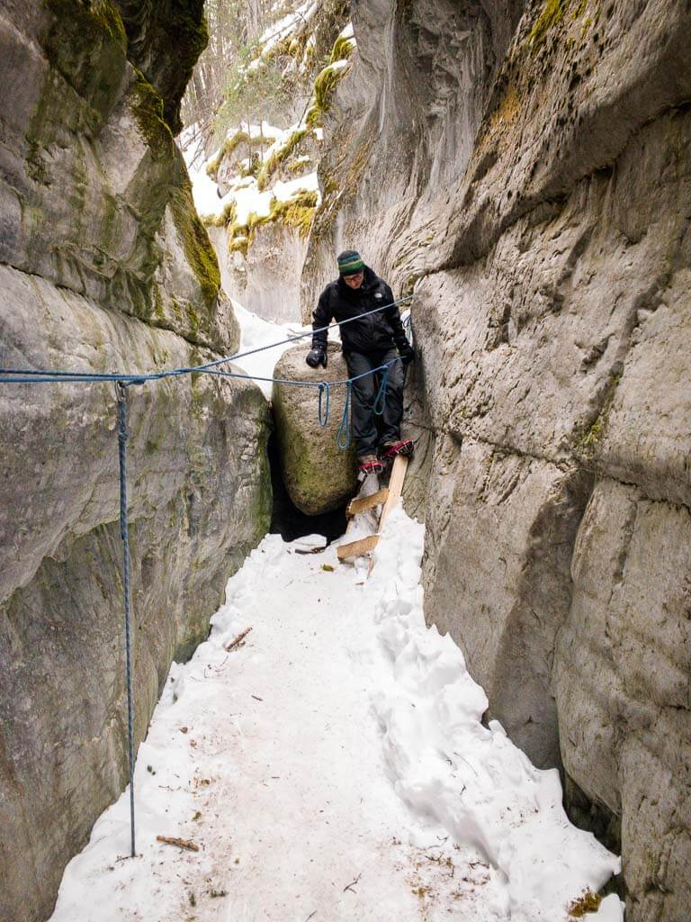 What to wear on McGillivray Canyon Trail in winter