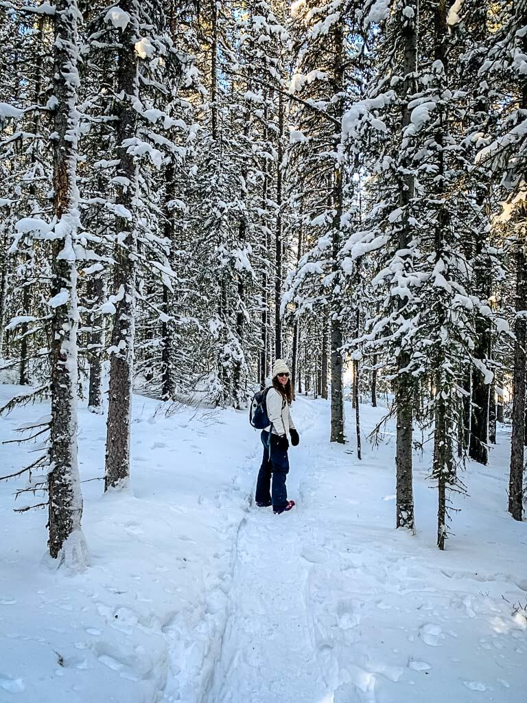 Lower Kananaskis Lake trail - Winter hike