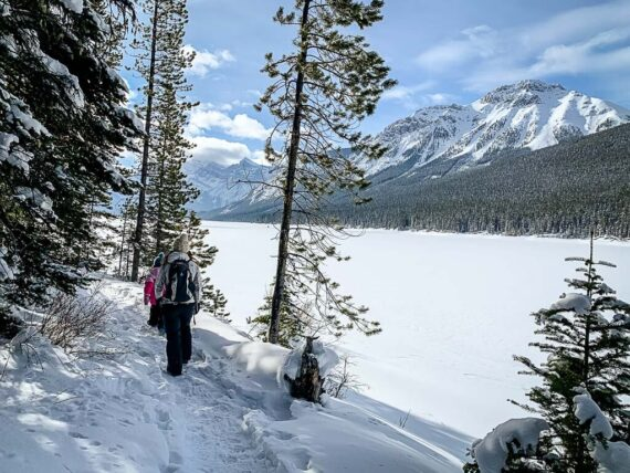 Lower Kananaskis Lake Snowshoe Trail in Kananaskis Country