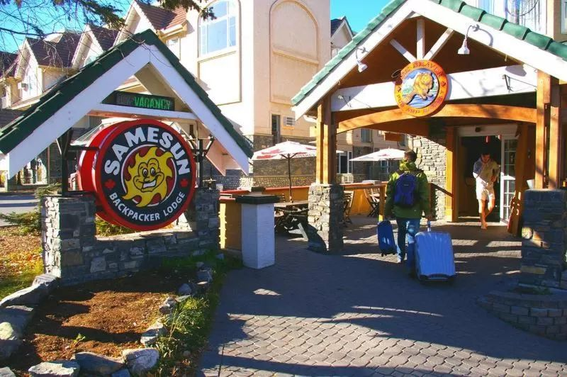 The Samesun hostel may be the cheapest place to stay in Banff Canada