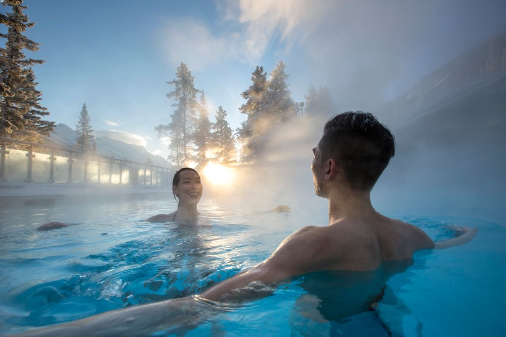The two best luxury hotels in Banff are near the famous Banff Hot Springs on Sulphur Mountain