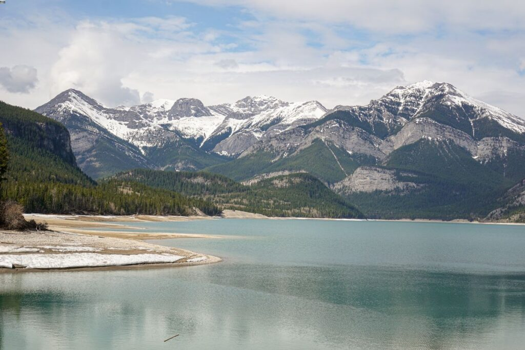 Hiking along Barrier Lake provides excellent views of Kananaskis, Canada