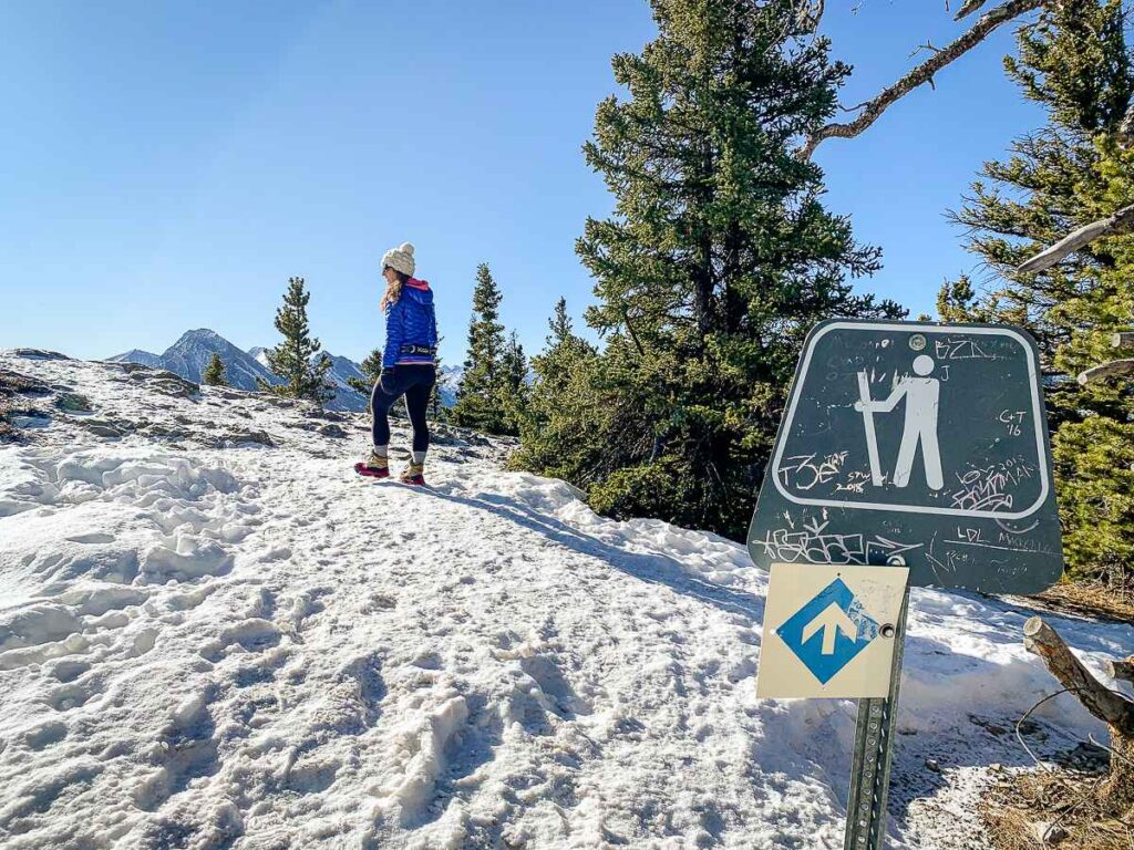 Best Kananaskis hikes in March - Yates Mountain Loop Hike from Barrier Lake Day Use Area