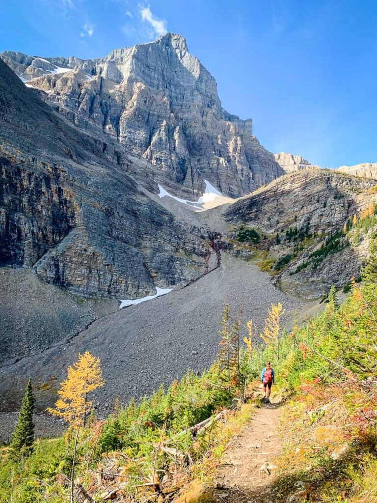 Hiking is one of the best free things to do in Banff, Alberta