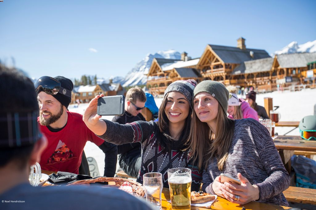 When traveling to Banff on a budget, limit the number of times you eat at Banff restaurants