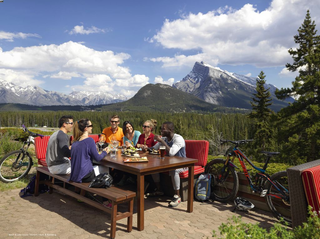 When visiting Banff on a budget, get most of your food at a Banff grocery store and treat yourself to some great Banff restaurant experiences