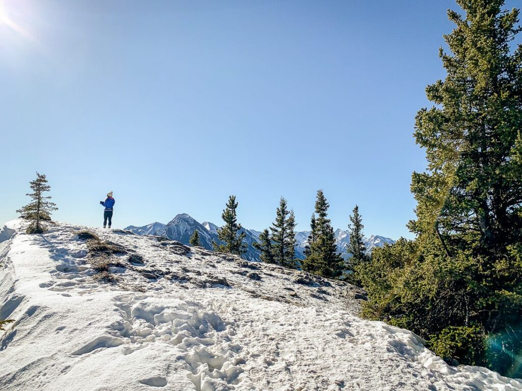Plenty of sun exposure makes Yates Mountain Trail a good option for spring hiking in Kananaskis Country