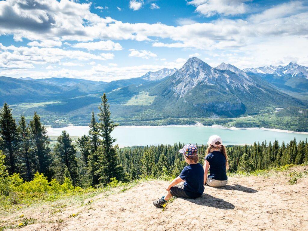 challenging kid-friendly Kananaskis hikes - Yates Mountain Trail near Barrier Lake