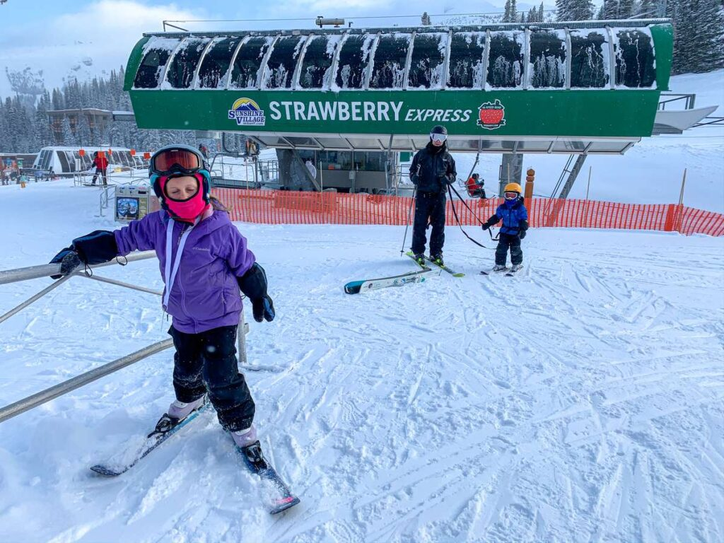 The Strawberry chairlift is the beginner chairlift at Sunshine Village, Banff National Park