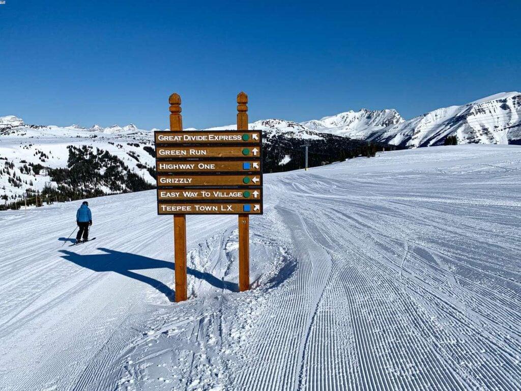 The Green Run is one of the longest ski runs at the Banff Sunshine Ski Resort