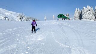Best green runs at the Banff Sunshine Village Ski Resort for first time skiers