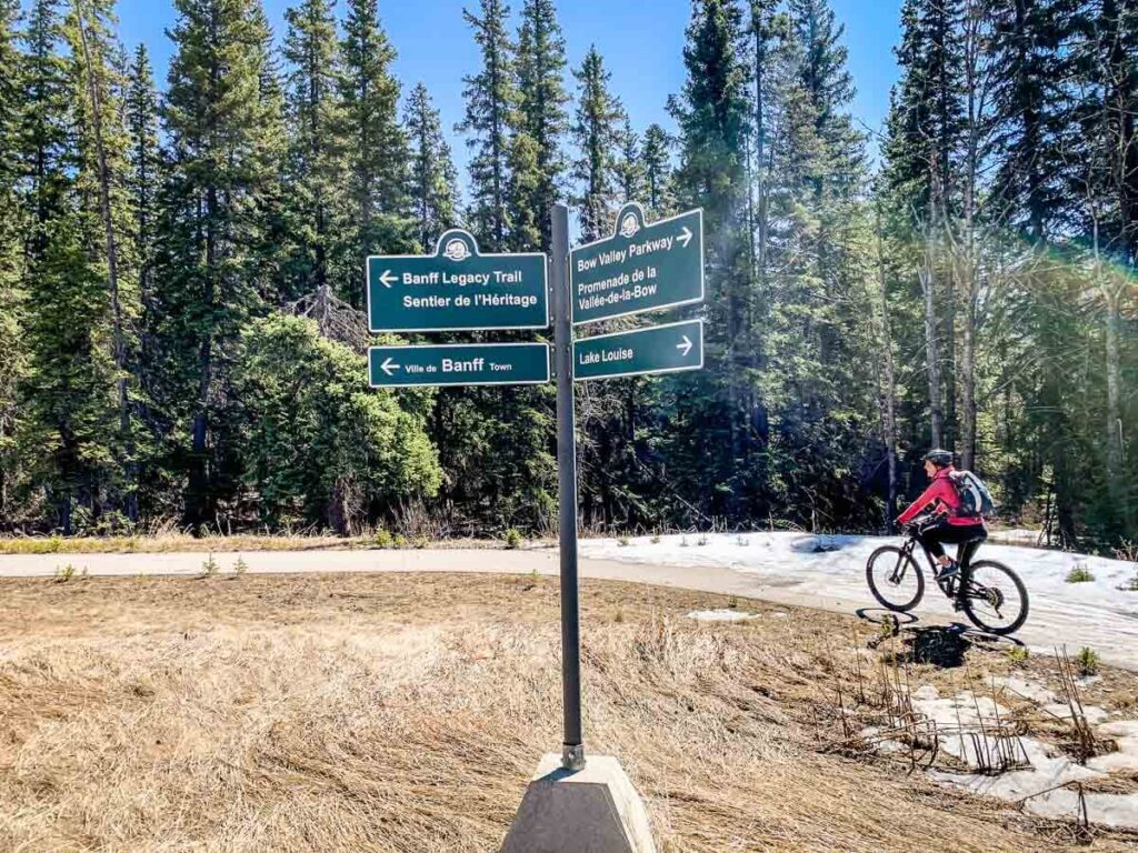 Biking Legacy Trail Banff to Bow Valley Parkway