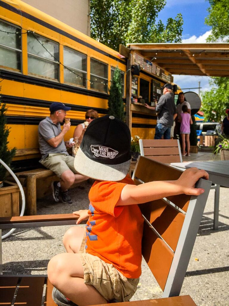 Canmore Ice Cream Bus - Fun things to do in Canmore with kids