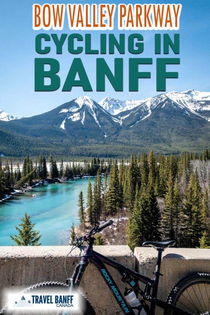 Cycling Bow Valley Parkway in Banff National Park.
