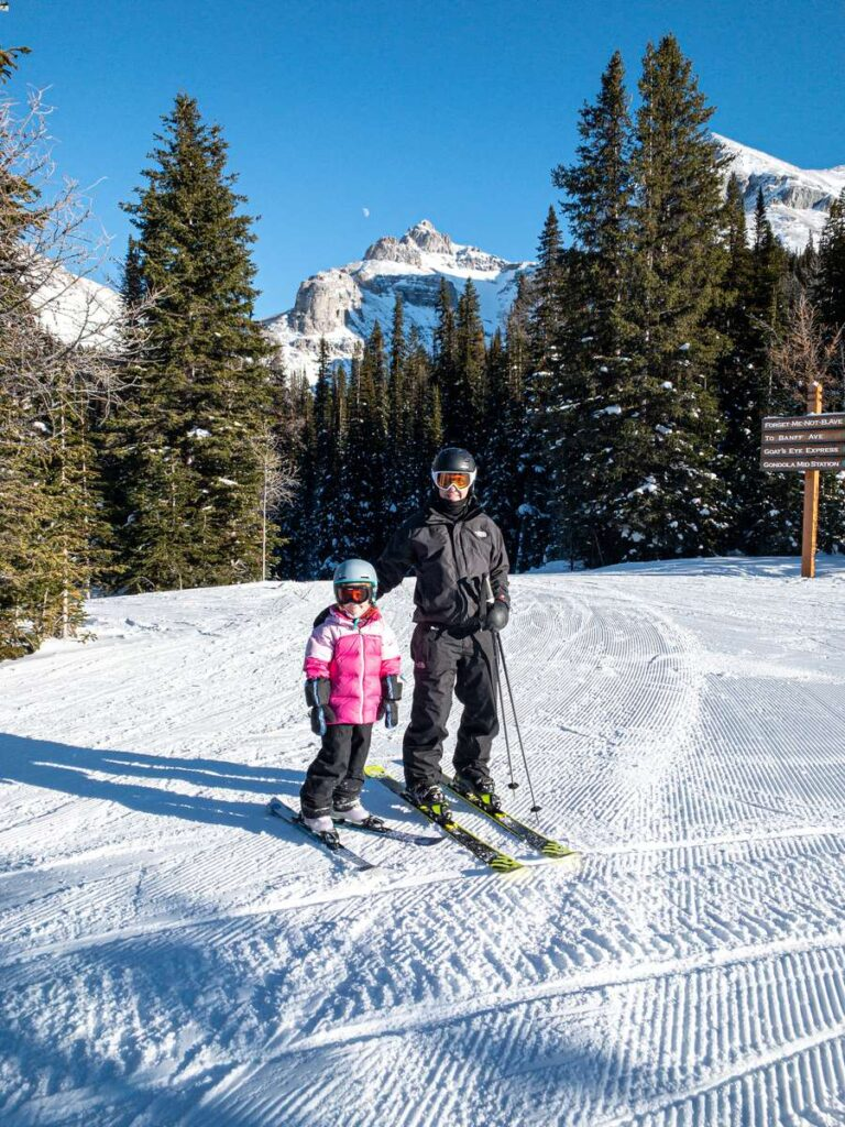 The Wolverine chairlift at Banff Sunshine Village ski resort has five of the best green runs
