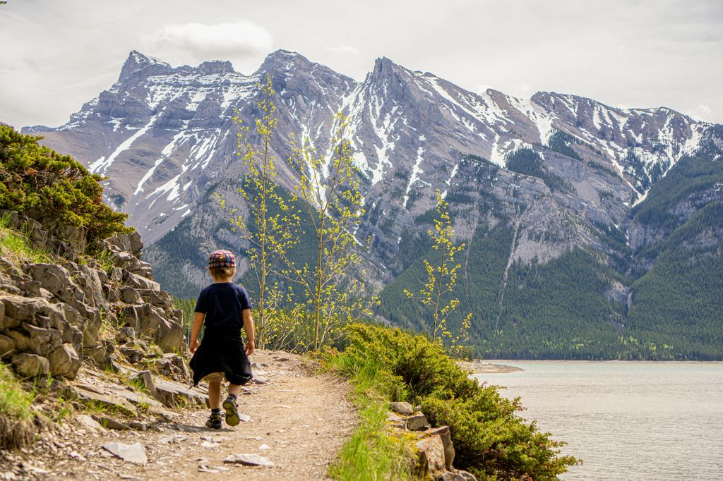 Enjoy free parking at Lake Minnewanka, Banff National Park