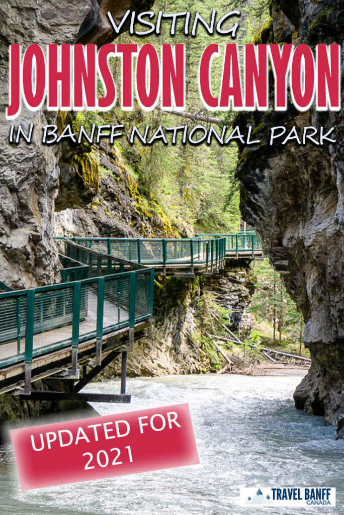 One of the best things to do in Banff National Park - don't miss this Johnston Canyon hike. The Johnston Canyon Trail in Banff National Park is an easy hike but one that you definitely want to add to your list! Click to find out everything you need to know about hiking Johnston Canyon!
