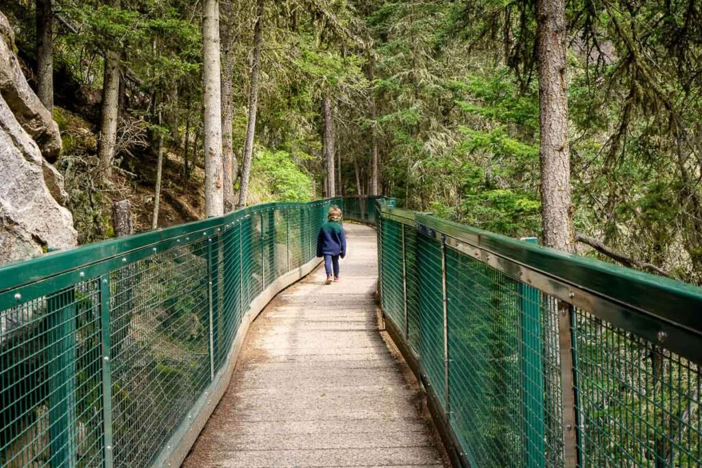 Hiking Johnston Canyon with Kids in Banff National Park