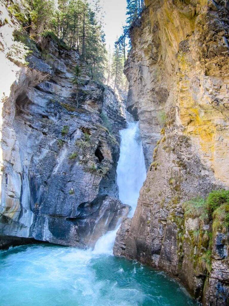 Lower Falls at Johnston Canyon - Hiking to Ink Pots via Johnston Canyon