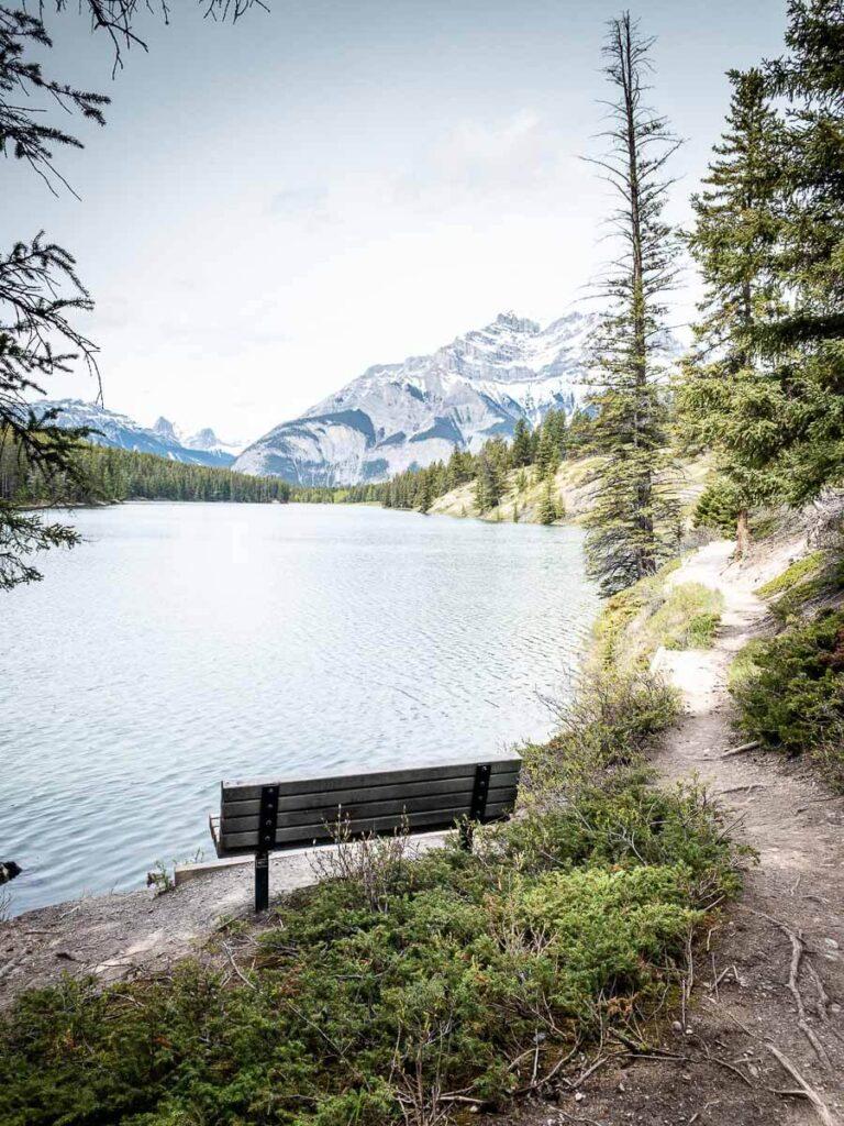 lakes in Alberta Canada - Johnson Lake, Banff National Park