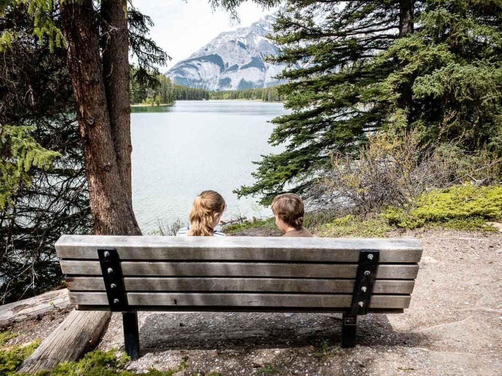 Johnson Lake hike - best Banff hikes with kids