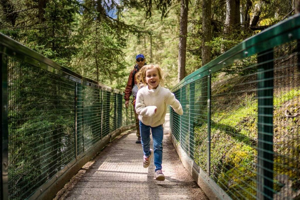 Johnston Canyon hike in Banff with Kids