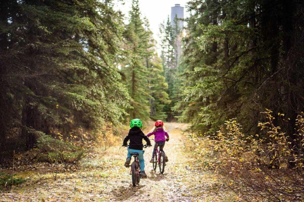 kid friendly bike trail in Banff - Water Tower Trail