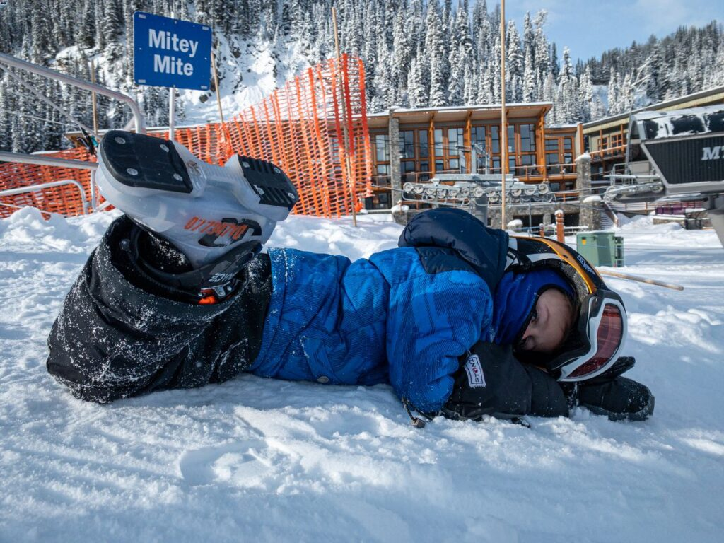 The Banff Sunshine Village magic carpet for people learning to ski