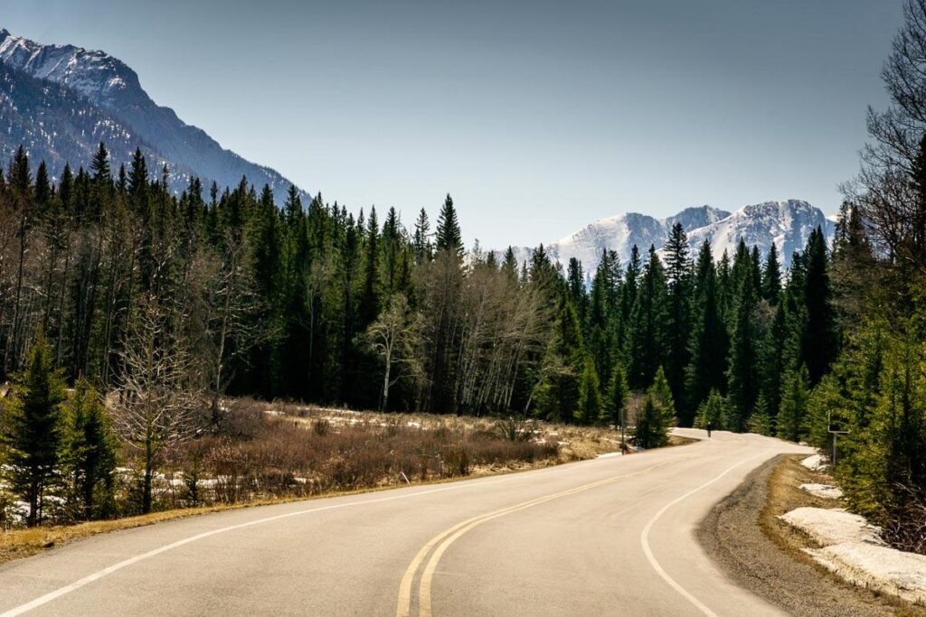 Bow Valley Parkway Road cycling in Banff National Park