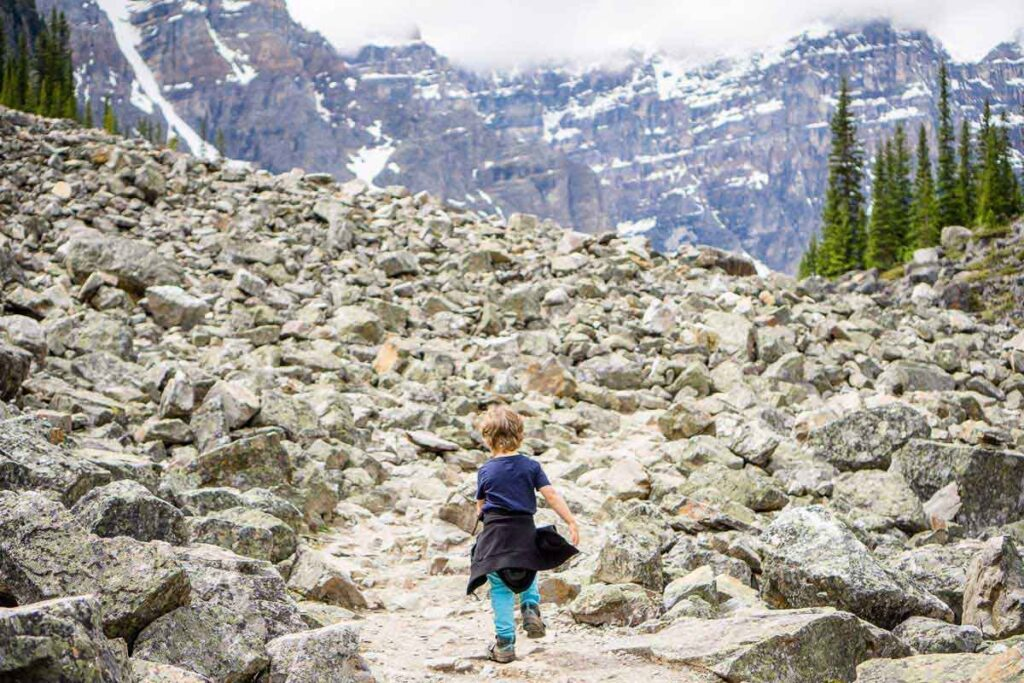 Hiking at Moraine Lake with Kids - Consolation Lakes