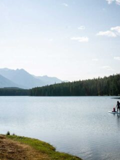 Visiting Johnson Lake, Banff is a great thing to do with kids