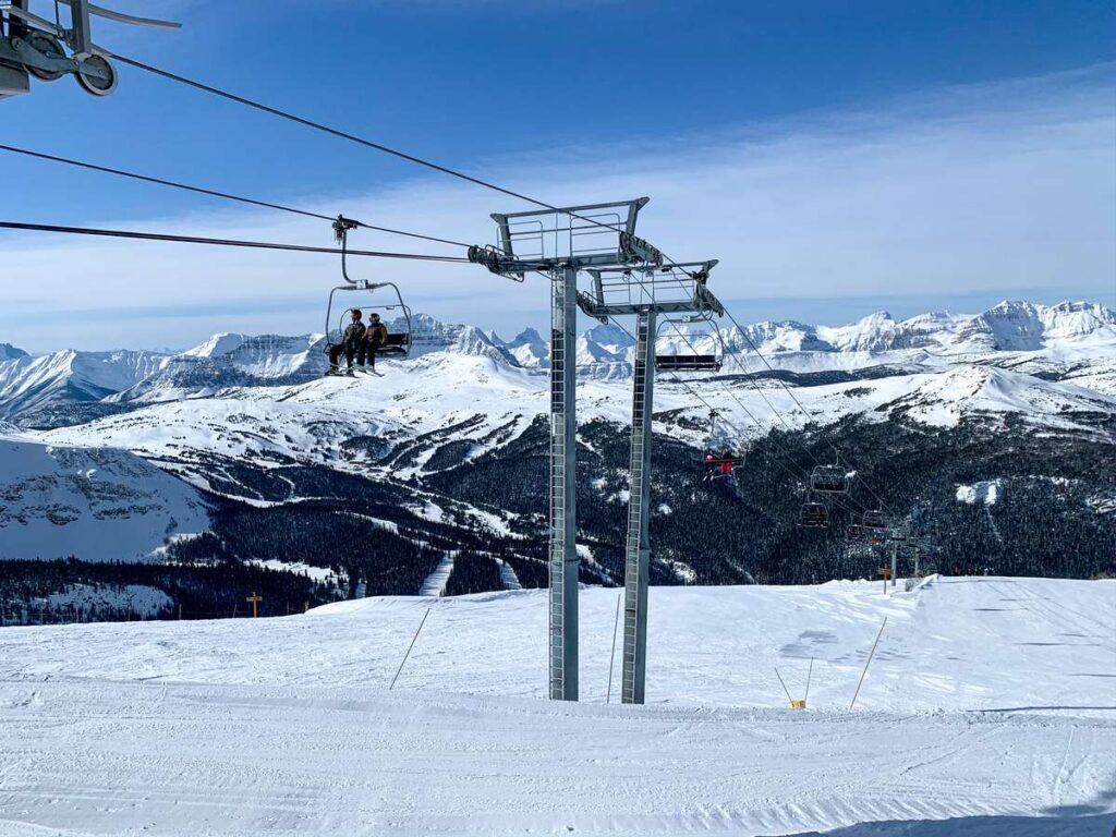 The Goats Eye chairlift at Banff Sunshine ski resort has no beginner ski runs