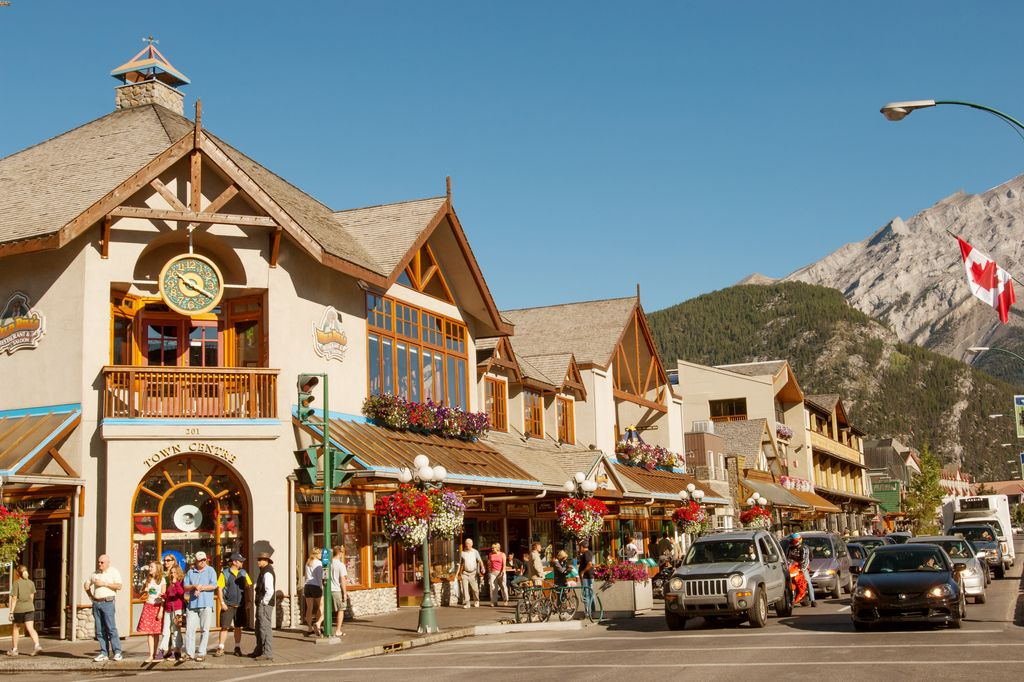 Vehicle congestion in downtown Banff has led to paid parking