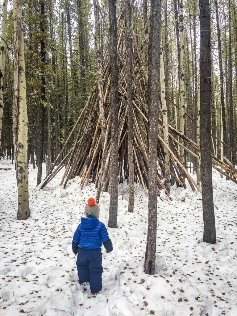 Troll Falls is a very kid-friendly Kananaskis hike in winter