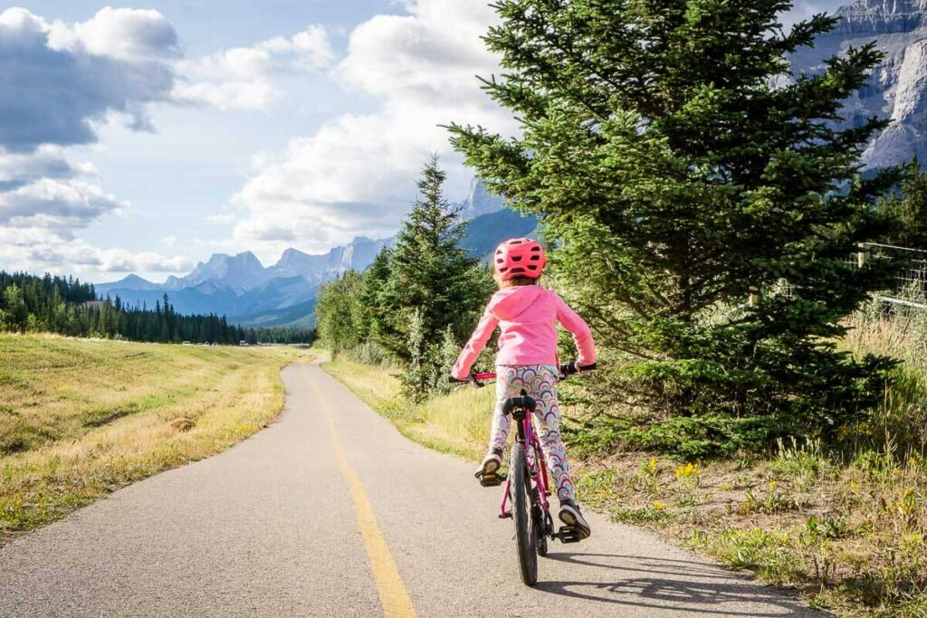 best time to cycle Legacy Trail Canmore to Banff