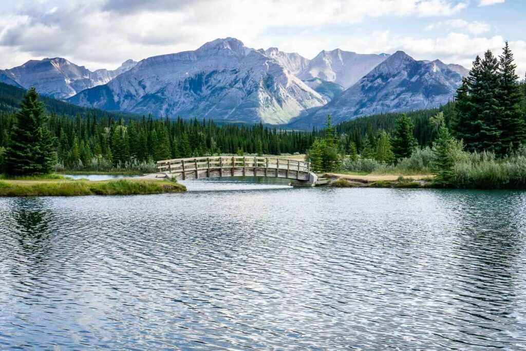 Cascade Ponds is alternate starting point for Legacy Trail in Banff