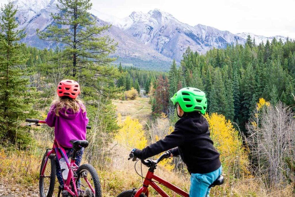 biking in Banff with Kids