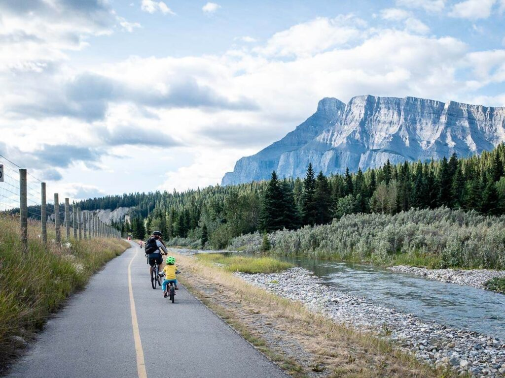 cycling the legacy trail Banff to Canmore