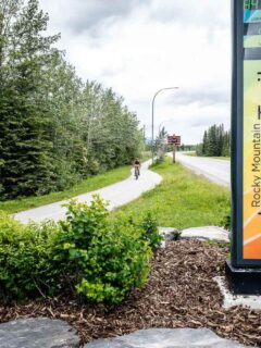 Legacy Trail Canmore - Starting Point near Parking lot