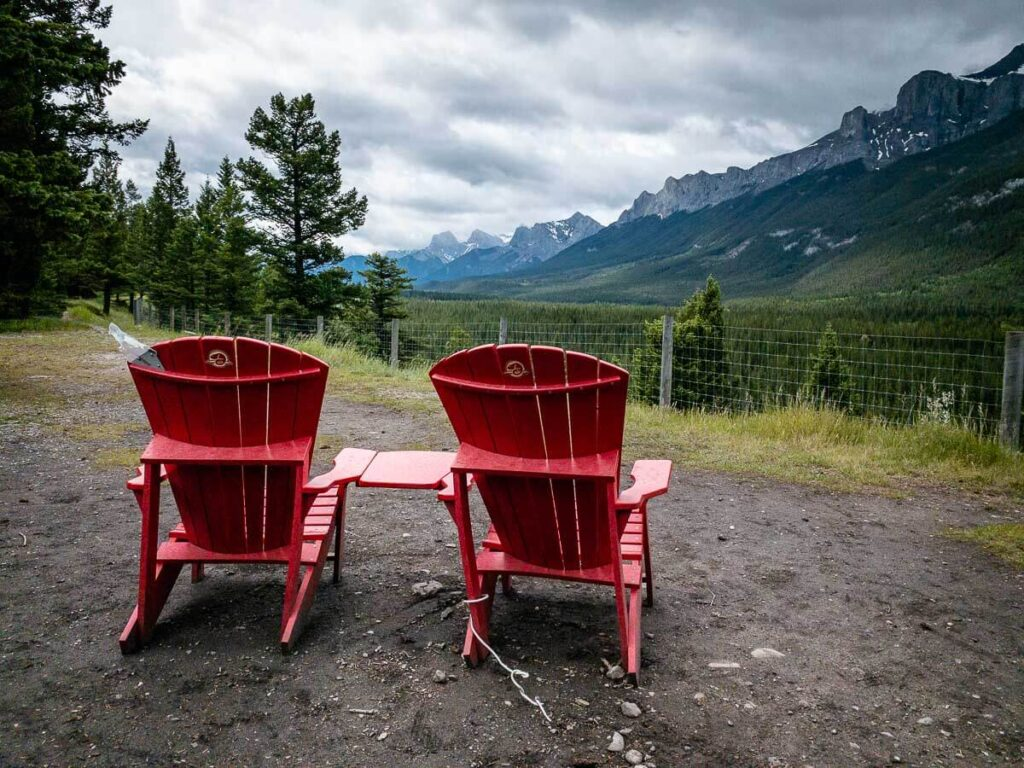 Banff Red Chairs at Valleyview picnic area
