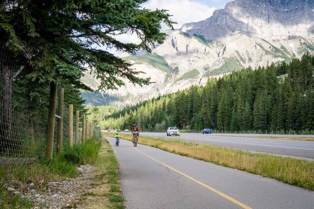 biking from canmore to banff
