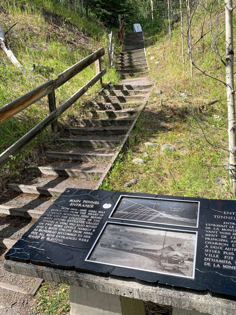 70 stairs from the Lower Bankhead parking lot to the Bankhead ghost town site