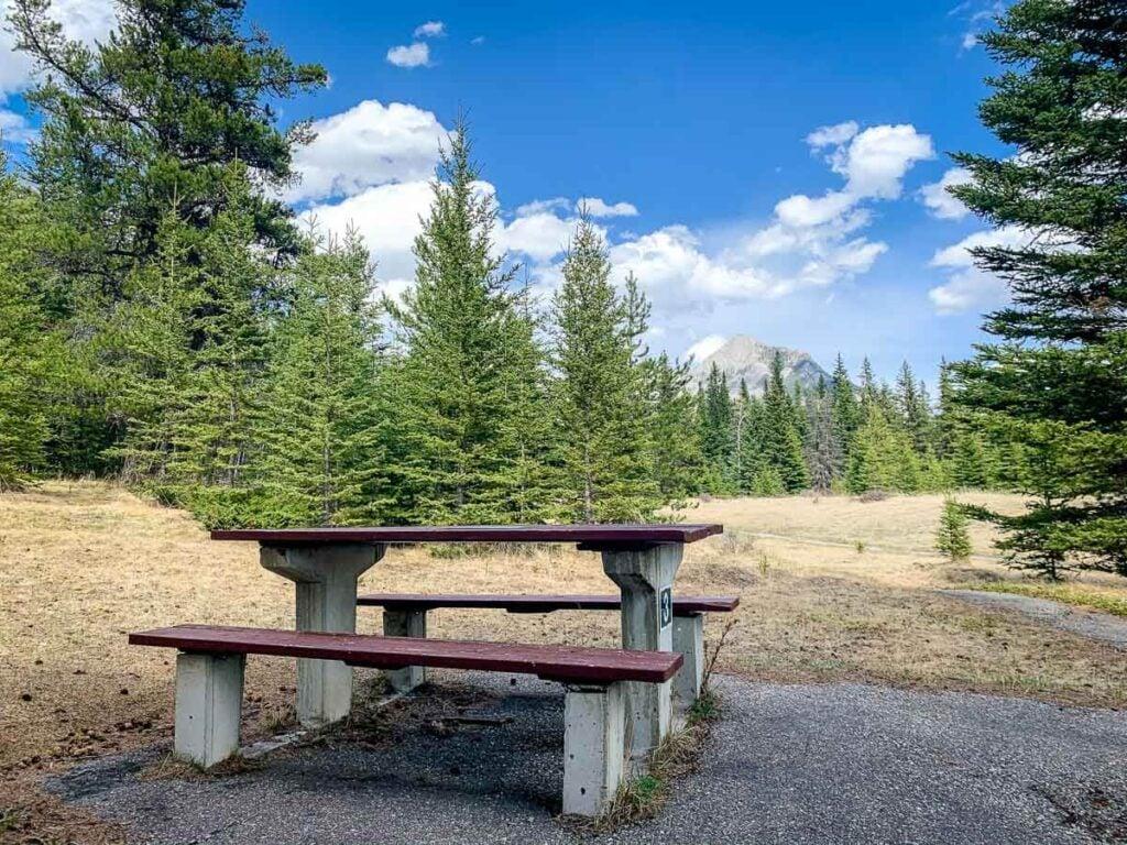 Banff picnic areas - Upper Bankhead