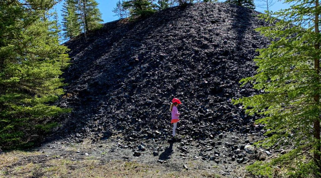 Things to do in Banff with kids - explore the abandoned Bankhead coal mine in the Minnewanka Loop