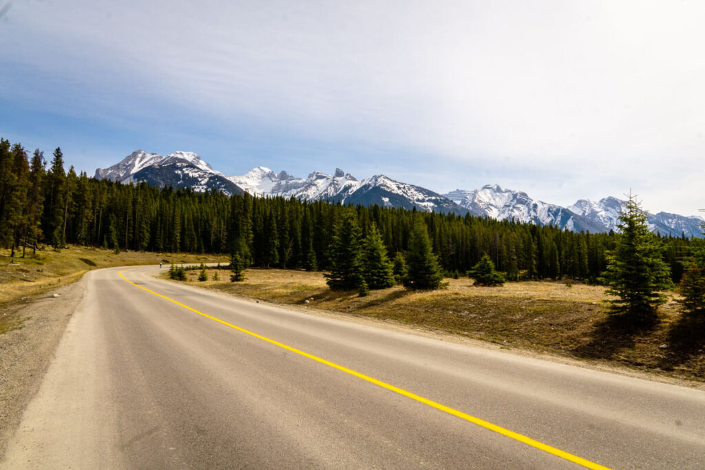 The Bankhead ghost town is located within the Minnewanka Loop in Banff, Canada