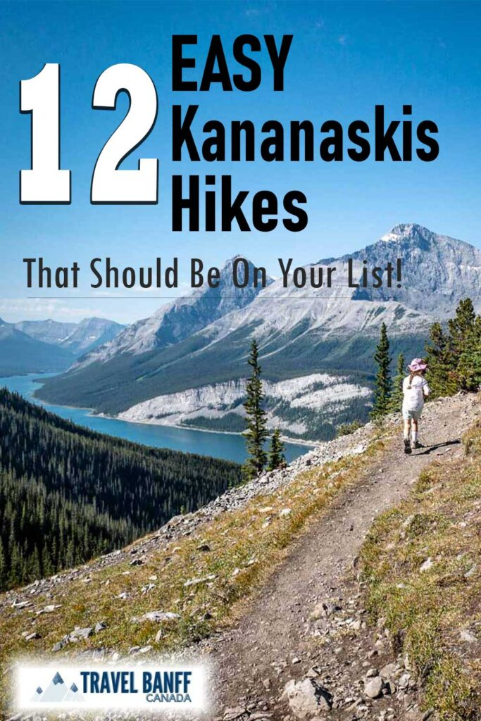 These 12 Easy Kananaskis Hikes should be on your list! Each one offers something different, either a walk through a canyon, impressive mountain views or a pristine mountain lake. Make sure to add these easy hikes in Kananaskis to your list of hikes this summer.