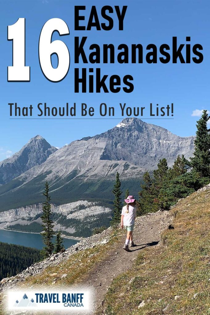 These 16 Easy Kananaskis Hikes should be on your list! Each one offers something different, either a walk through a canyon, impressive mountain views or a pristine mountain lake. Make sure to add these easy hikes in Kananaskis to your list of hikes this summer.