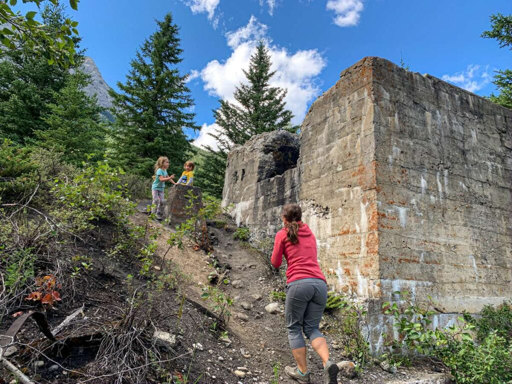 The Tipple building at the Bankhead, Banff coal mine was 30m tall