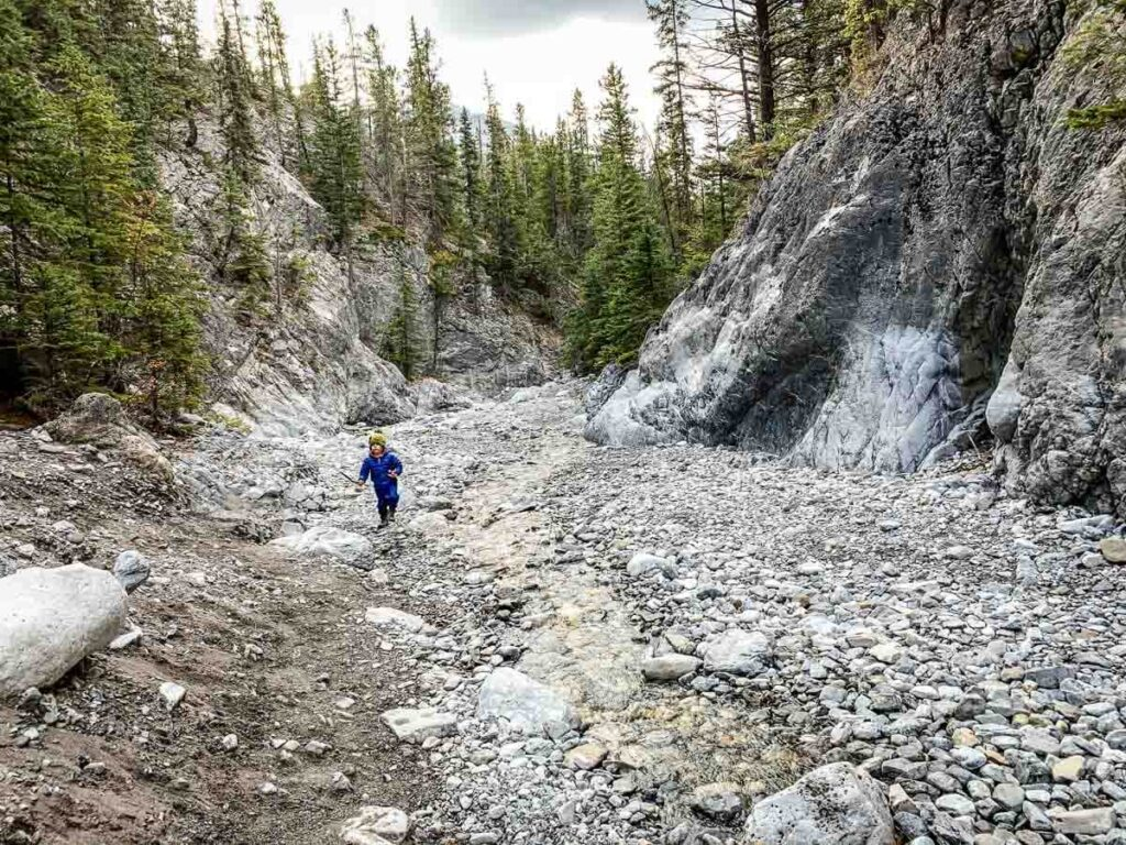 Grotto Canyon is one of the easy hiking trails Kananaskis