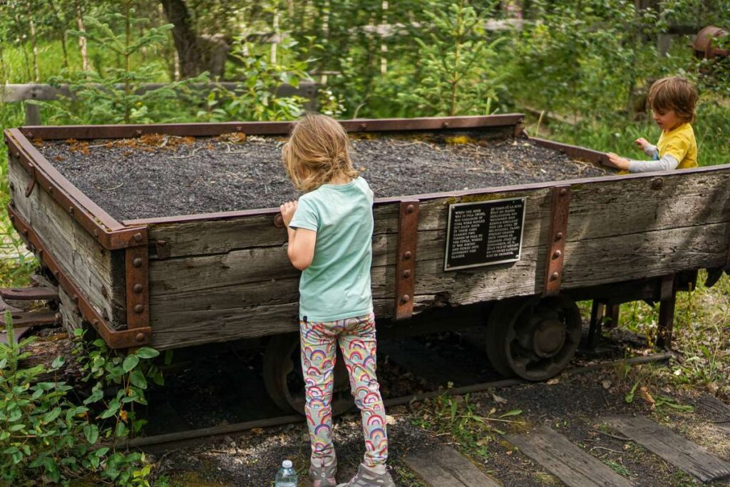 Kids love exploring the Bankhead, Alberta ghost town and coal mine